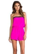 Arabella Romper in Neon Pink