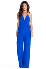 Gardenia Solid Jumpsuit in Electric Blue