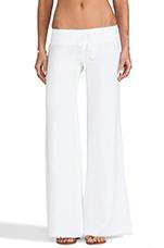 Wide Leg Linen Pant in White