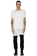 Knomad Layered Tee in White
