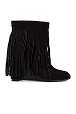 Zarin Fringe Boot in Black