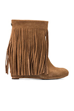 Zarin Fringe Boot in Chestnut