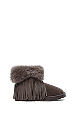 Haley Ankle II with Fur in Grey