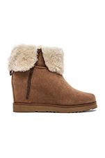 La Volta Boot with Fur in Chestnut