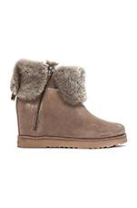 La Volta Boot with Fur in Seta