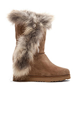 La Volta Fur Bootie in Chestnut