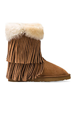 Haley II Boots with Twinface Sheepskin in Chestnut