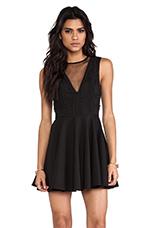 Secret Door Mini Dress in Black