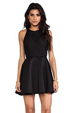 Almost Over Mini Dress in Black & Black Lace