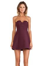 Hearts on Fire Mini Dress in Fig