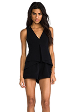 Happy Alone Playsuit in Black