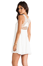 Seaside Macrame Dress in White
