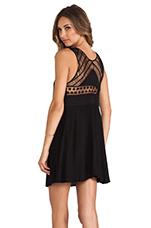 Seaside Macrame Dress in Black