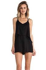 Criss Cross Romper in Black