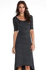 Stripe Dress in Black Stripe