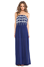 Strapless Maxi Dress in Navy