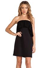 Ruffle Tube Dress in Black