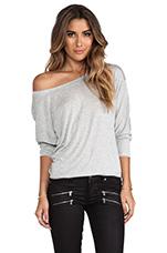 Boyfriend Sweatshirt in Heather Grey
