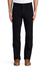7oz Classic Slim Twill Chino in Black
