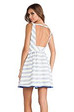 Kelly Dress in Sky Stripe