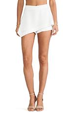 Asymmetry Flare Skirt in White