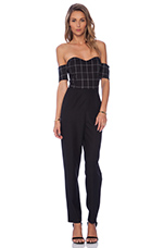 Christy Sweetheart Jumpsuit in Bankers Plaid