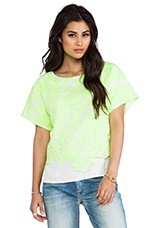 Embroidery Layer Top in Citrus Lime