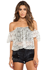 Flare Corset Top in Coconut Scent