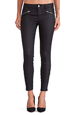 Reiley Moto Skinny with Zippers in Black