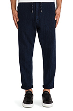 Drop Out Pant in Indigo Herringbone