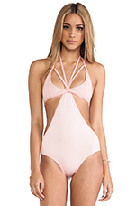 Twice Shy One Piece in Salmon Bisque