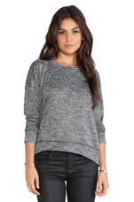 Morrocco Sweatshirt in Black Marble