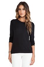 Hayden Long Sleeve Top in Black