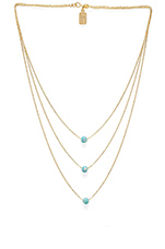 Solar Necklace in Baby Green