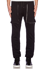 Basic Sweatpant in Black & Light Grey
