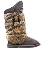 Rabbit Atilla Fur Boot in Grey