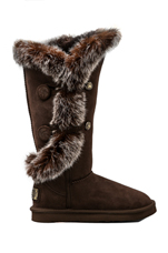 Nordic Angel X-Tall Boot with Rabbit Fur Trim in Beva