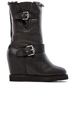 Machina Wedge Boot in Crocodile Black