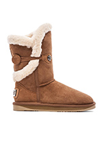 Nordic Shearling Short Boot in Chestnut