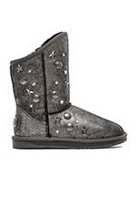 Angel Short Swarovski Boot Crackle Black & Silver