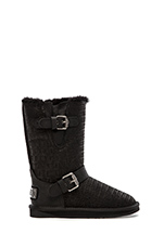 Machina Boot in Crocodile Black
