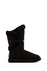 Nordic Shearling Short Boot with Fur in Black