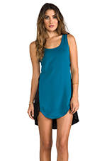 Dandy Shift Dress in Teal