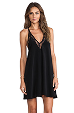 Lovers + Friends Hula Babydoll Dress in Black