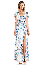 x REVOLVE The Keeper Maxi in Blue Floral