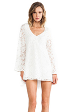 Holly Dress in White Lace