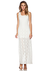 Gemma Crochet Maxi Dress in Ivory