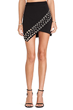 Lovers + Friends New York Mini Skirt in Black