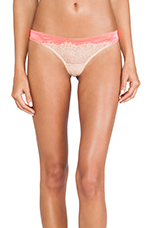 Lovely Eyelash Panty in Neon Coral & Nude