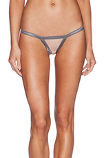 Stripe Illusion Cheeky Panty in Charcoal & Nude